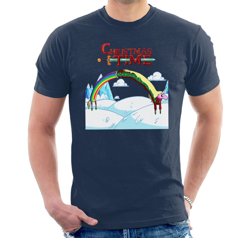 Adventure Christmas Time Lady Rainicorn Ice World Cartoon Network Men's T-Shirt
