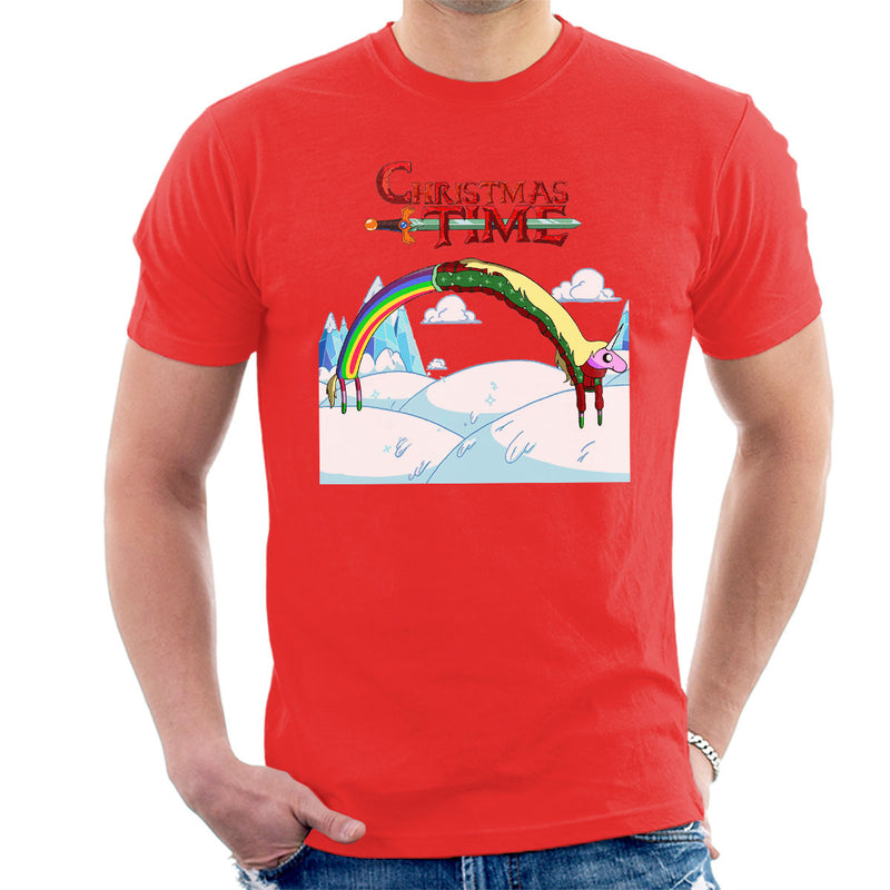 Adventure Christmas Time Lady Rainicorn Ice World Cartoon Network Men's T-Shirt by MacXi - Cloud City 7