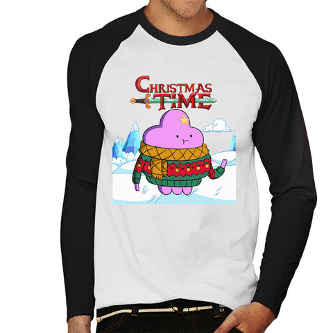 Adventure Christmas Time Lumpy Space Princess Ice World Cartoon Network Men's Baseball Long Sleeved T-Shirt