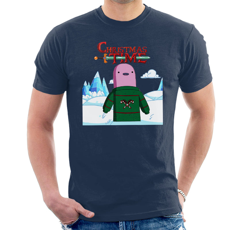 Adventure Christmas Time Shelby Ice World Cartoon Network Men's T-Shirt