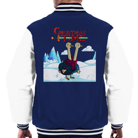 Adventure Christmas Time Two Headed Duck Ice World Cartoon Network Men's Varsity Jacket