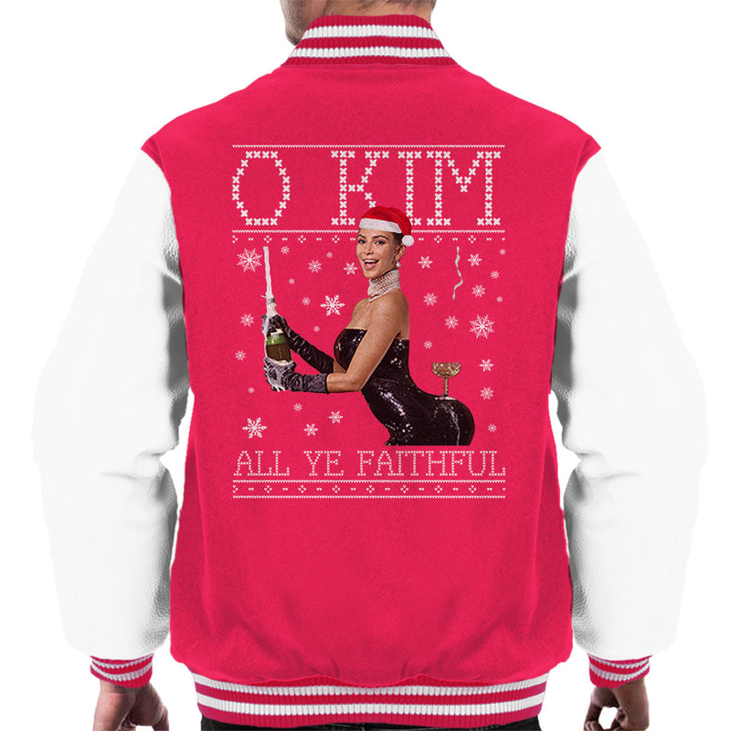O Kim All Ye Faithful Kardashian Christmas Knit Men's Varsity Jacket by Punksthetic - Cloud City 7