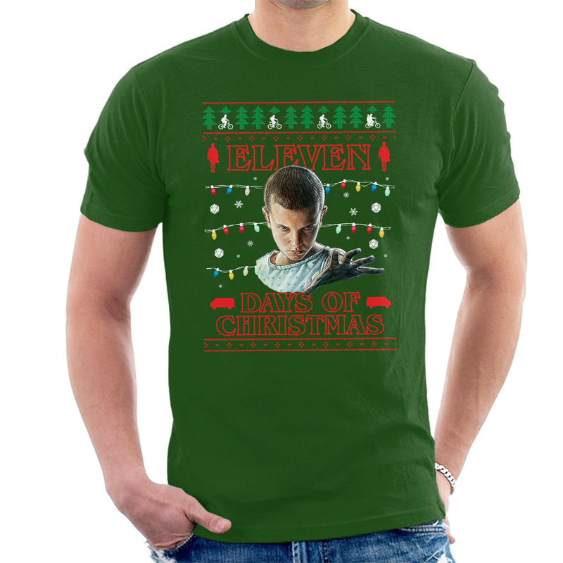 Stranger Things Eleven Days Of Christmas Knit Men's T-Shirt by Punksthetic - Cloud City 7