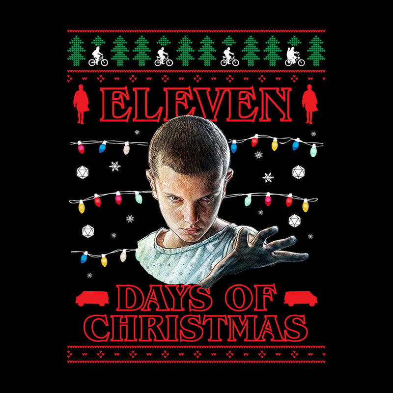 Stranger Things Eleven Days Of Christmas Knit Kid's Varsity Jacket by Punksthetic - Cloud City 7