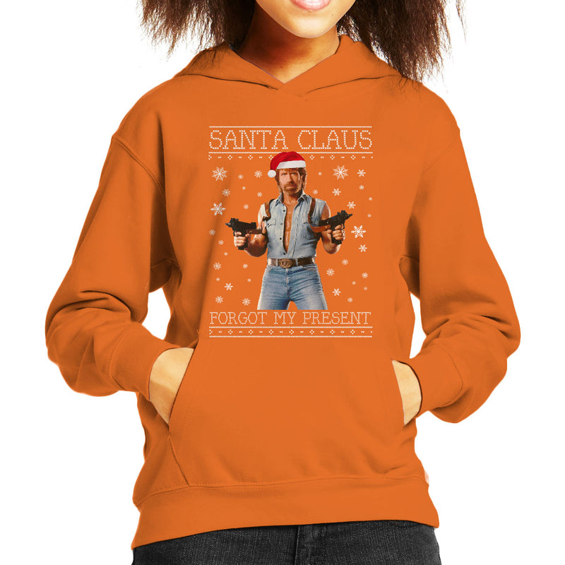 Chuck Norris Forgot My Present Christmas Knit Kid's Hooded Sweatshirt by Punksthetic - Cloud City 7