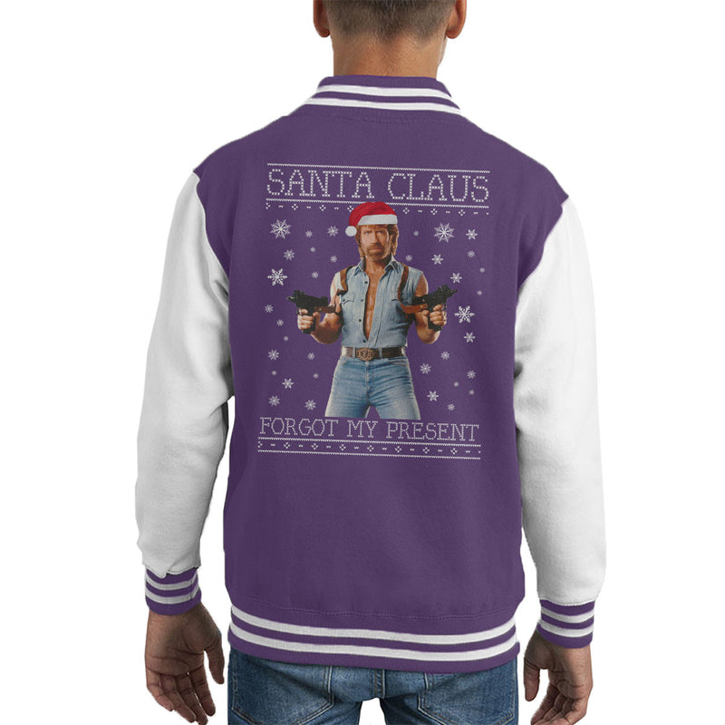 Chuck Norris Forgot My Present Christmas Knit Kid's Varsity Jacket by Punksthetic - Cloud City 7