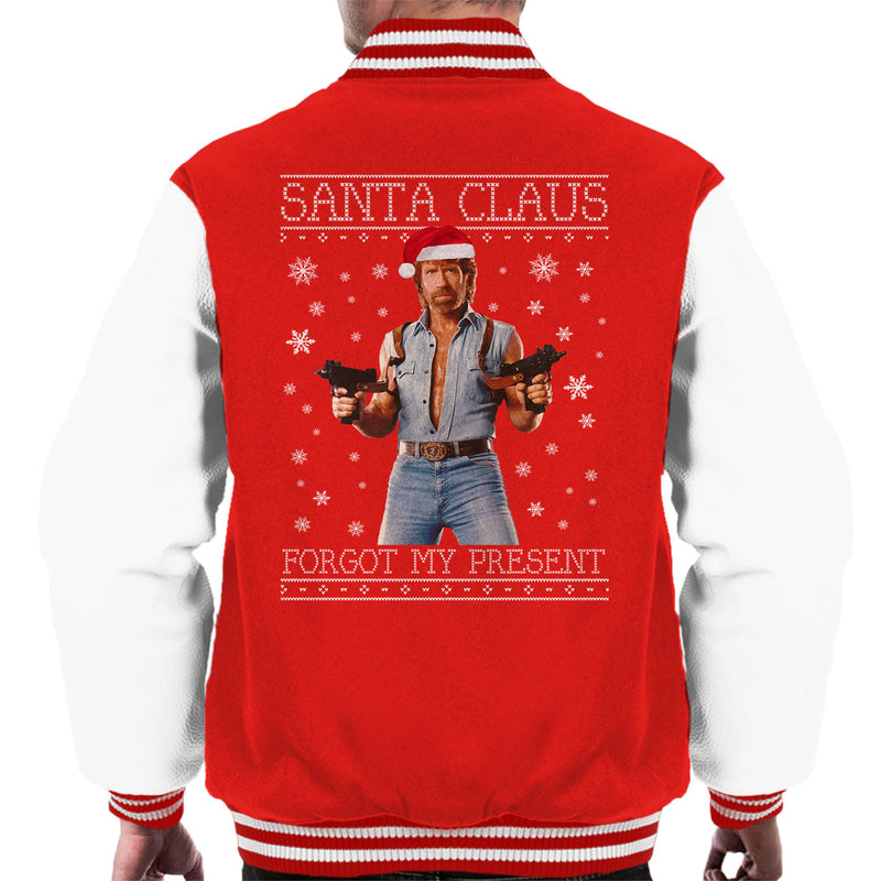 Chuck Norris Forgot My Present Christmas Knit Men's Varsity Jacket by Punksthetic - Cloud City 7