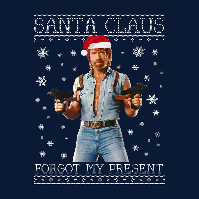 Chuck Norris Forgot My Present Christmas Knit Men's Baseball Long Sleeved T-Shirt by Punksthetic - Cloud City 7