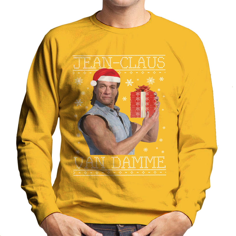Jean Claus Van Damme Christmas Knit Men's Sweatshirt by Punksthetic - Cloud City 7