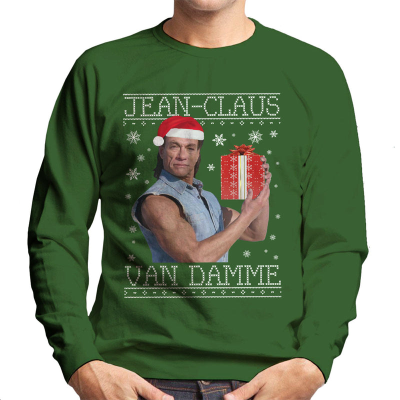 Jean Claus Van Damme Christmas Knit Men's Sweatshirt