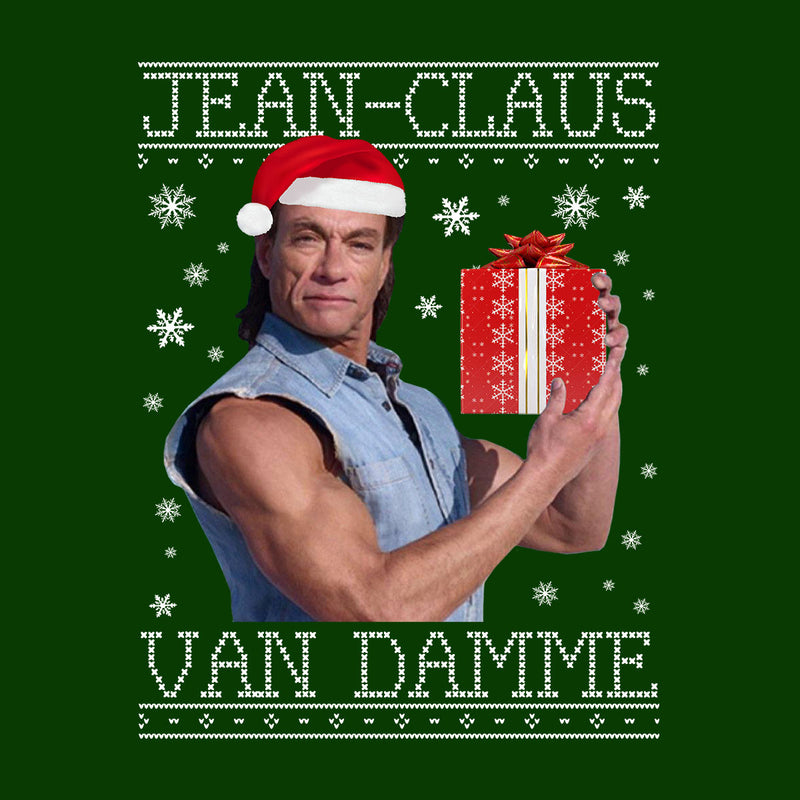 Jean Claus Van Damme Christmas Knit Kid's Hooded Sweatshirt by Punksthetic - Cloud City 7