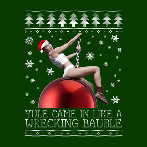 Miley Cyrus Wrecking Ball Christmas Knit