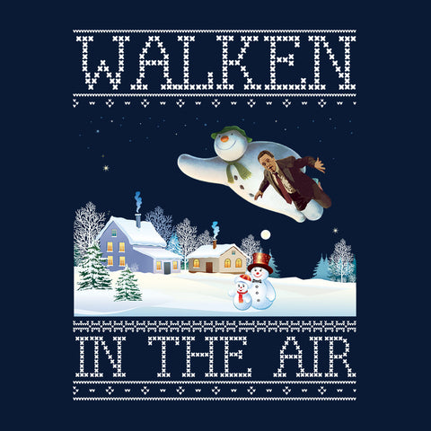 Christopher Walken In The Air Snow Man Christmas Knit