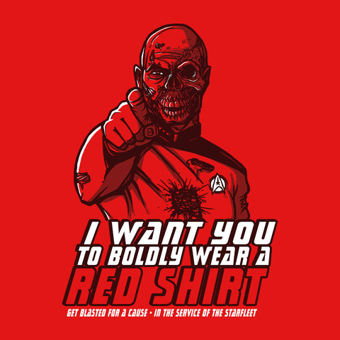 Red Shirt Zombie Star Trek