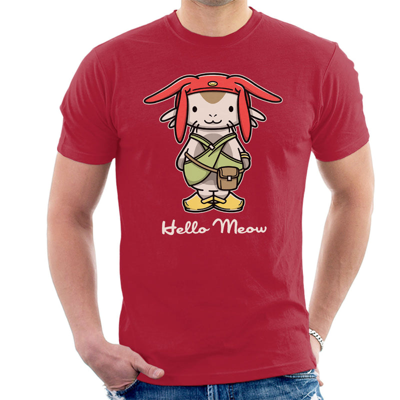Hello Meow Space Dandy Kitty Men's T-Shirt by Adho1982 - Cloud City 7