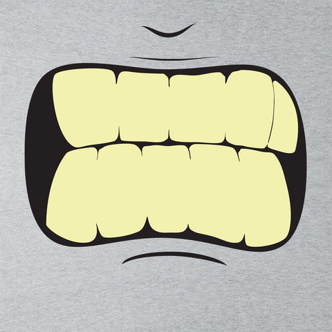 Japanese Manga Angry Yellow Teeth