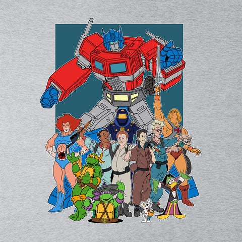 80s Cartoon Heroes Optimus Prime Ghostbusters