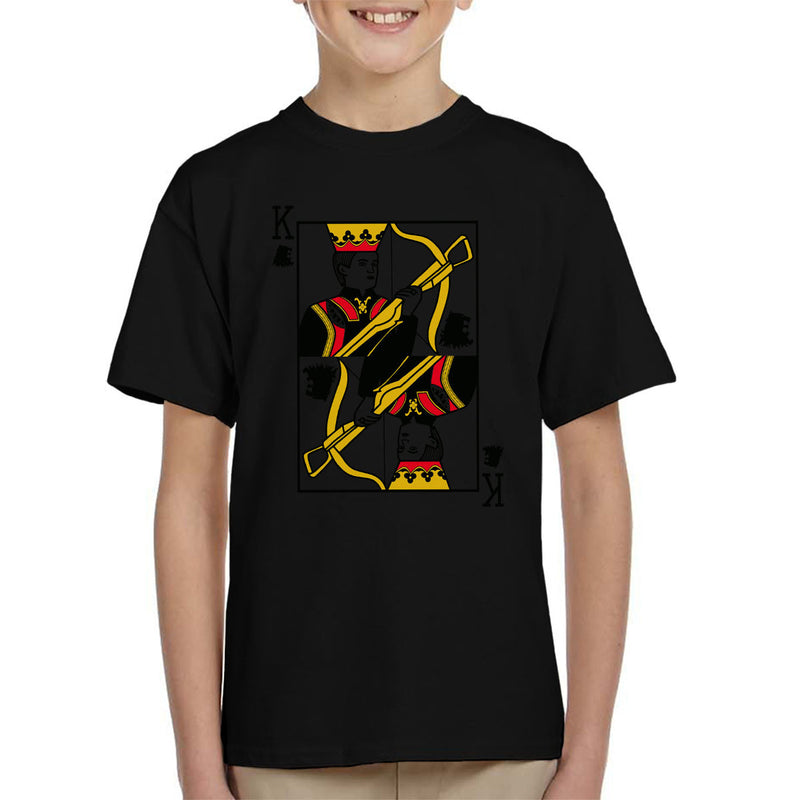 2e950f4e ... King Joffrey Playing Card Game Of Thrones Kid's T-Shirt by Karlangas -  Cloud City ...