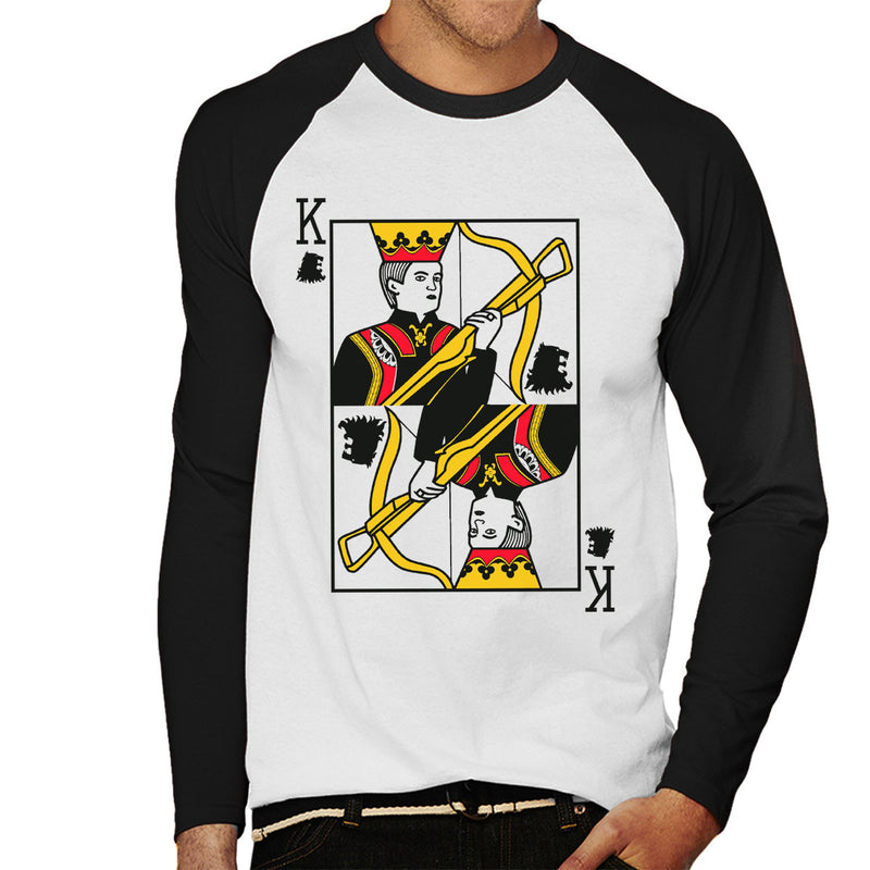 eed5d178 King Joffrey Playing Card Game Of Thrones Men's Baseball Long Sleeved T- Shirt by Karlangas ...