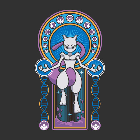Mewtwo Stained Glass Pokemon