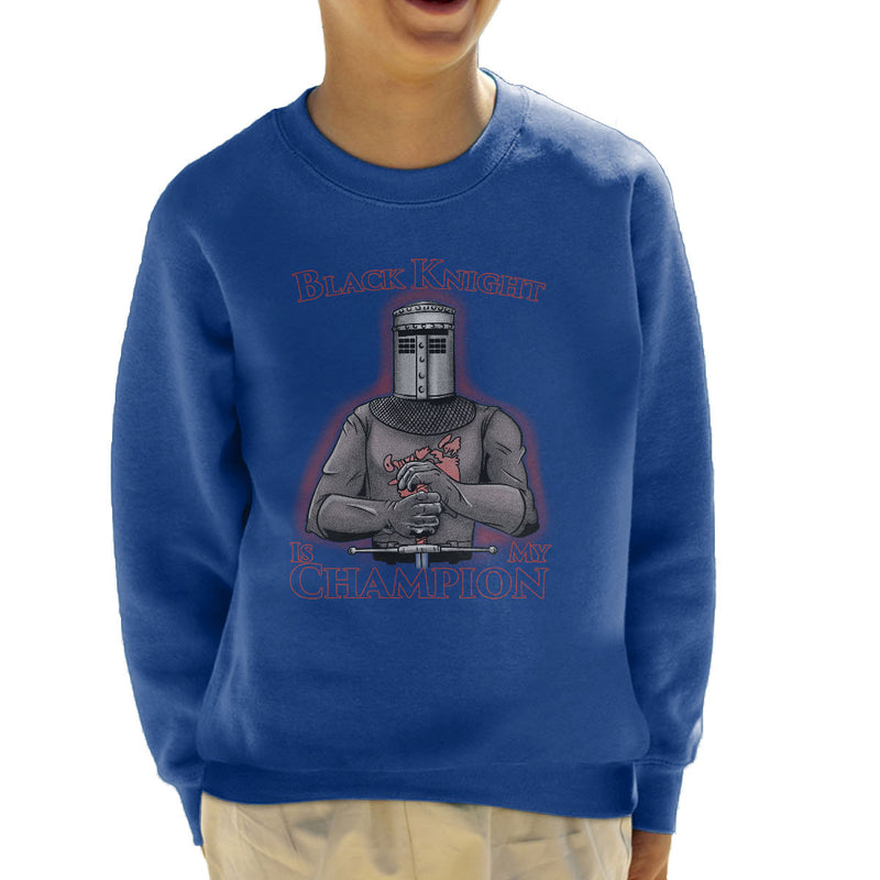... Black Knight Is My Champion Monty Python Holy Grail Kid's Sweatshirt by  Legendary Phoenix - Cloud ...