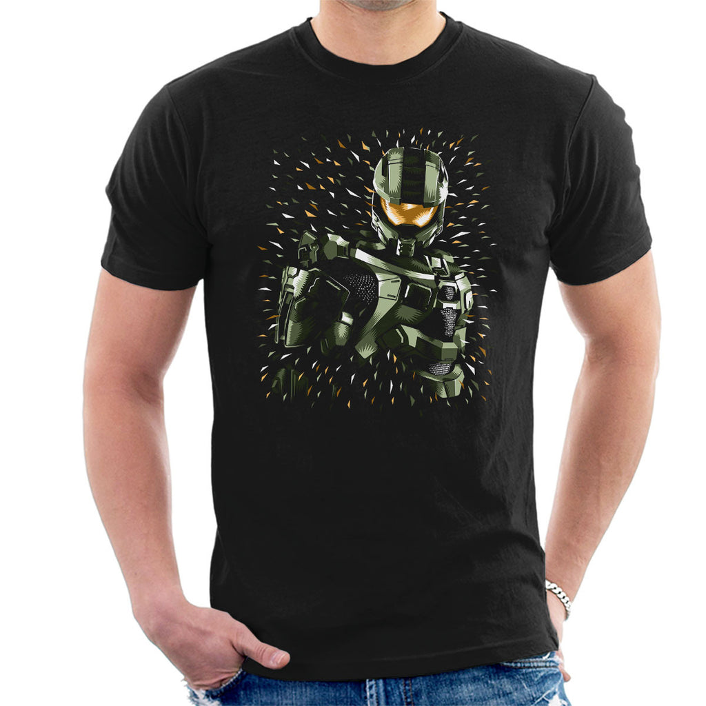 Halo Masterchief Colour Flecks Men's T-Shirt