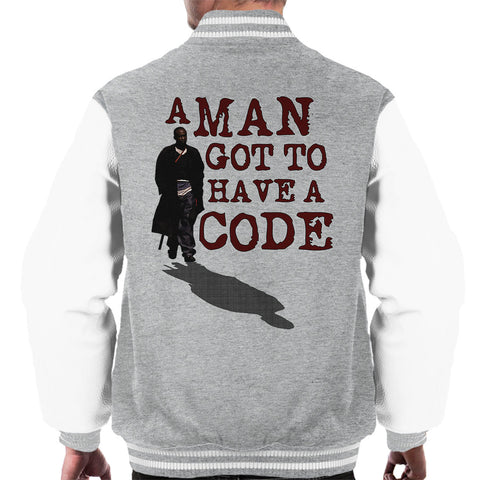 A Man Got To Have A Code Omar The Wire Men's Varsity Jacket