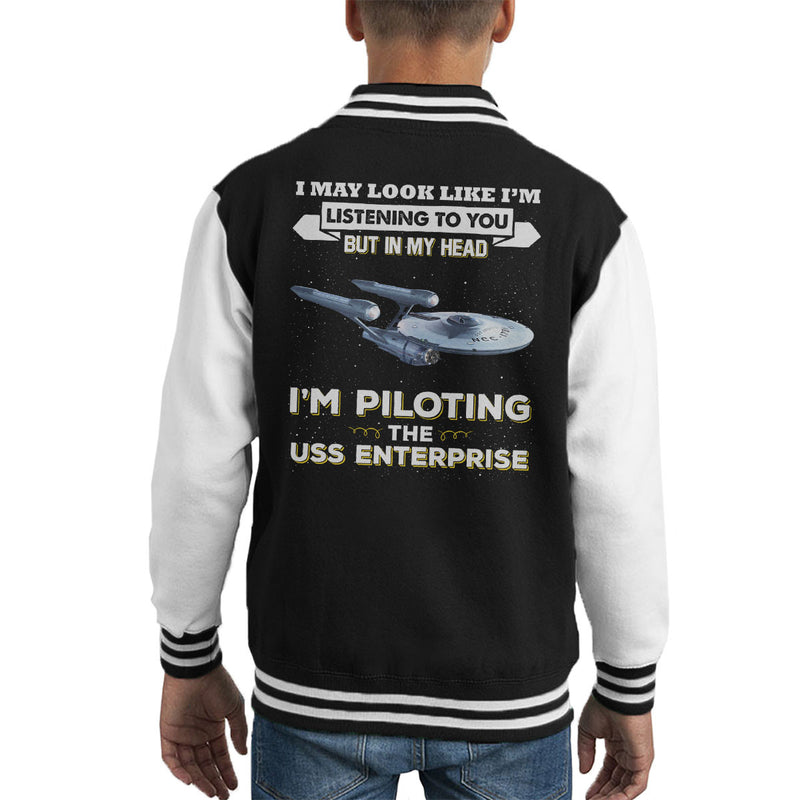I May Look Like USS Enterprise Star Trek Kid's Varsity Jacket