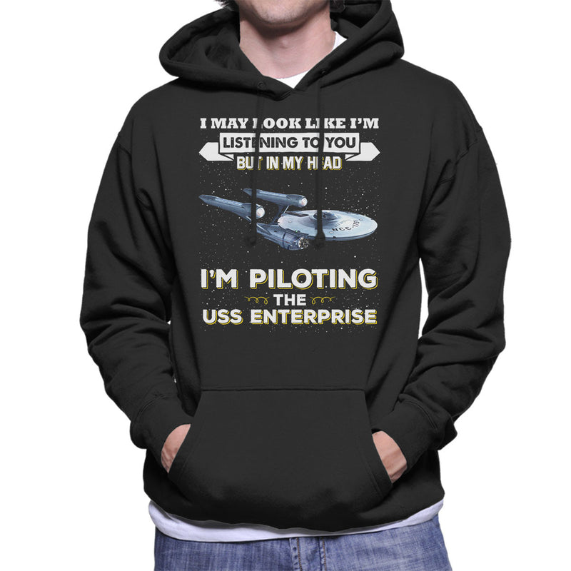 I May Look Like USS Enterprise Star Trek Men's Hooded Sweatshirt