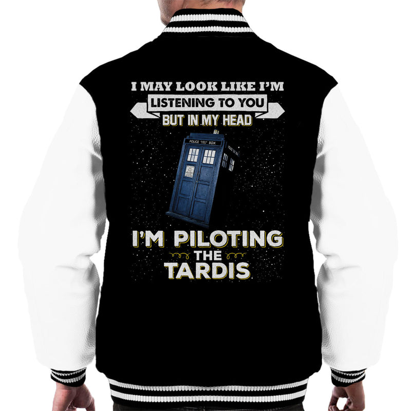 I May Look Like The Tardis Doctor Who Men's Varsity Jacket