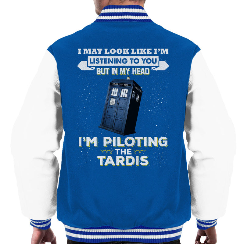 I May Look Like The Tardis Doctor Who Men's Varsity Jacket by Pheasant Omelette - Cloud City 7