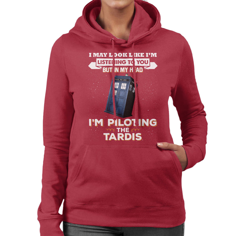 I May Look Like The Tardis Doctor Who Women's Hooded Sweatshirt by Pheasant Omelette - Cloud City 7