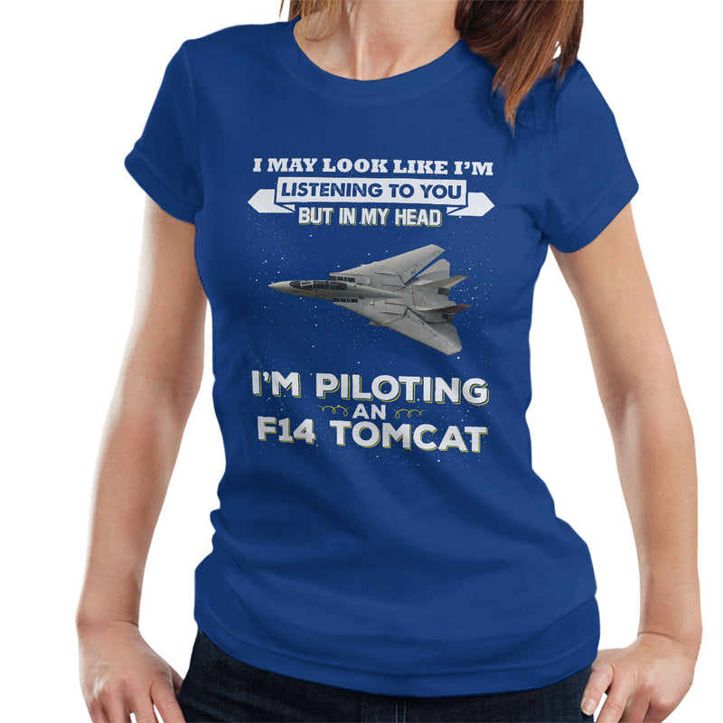 I May Look Like F14 Tomcat Top Gun Women's T-Shirt by Pheasant Omelette - Cloud City 7