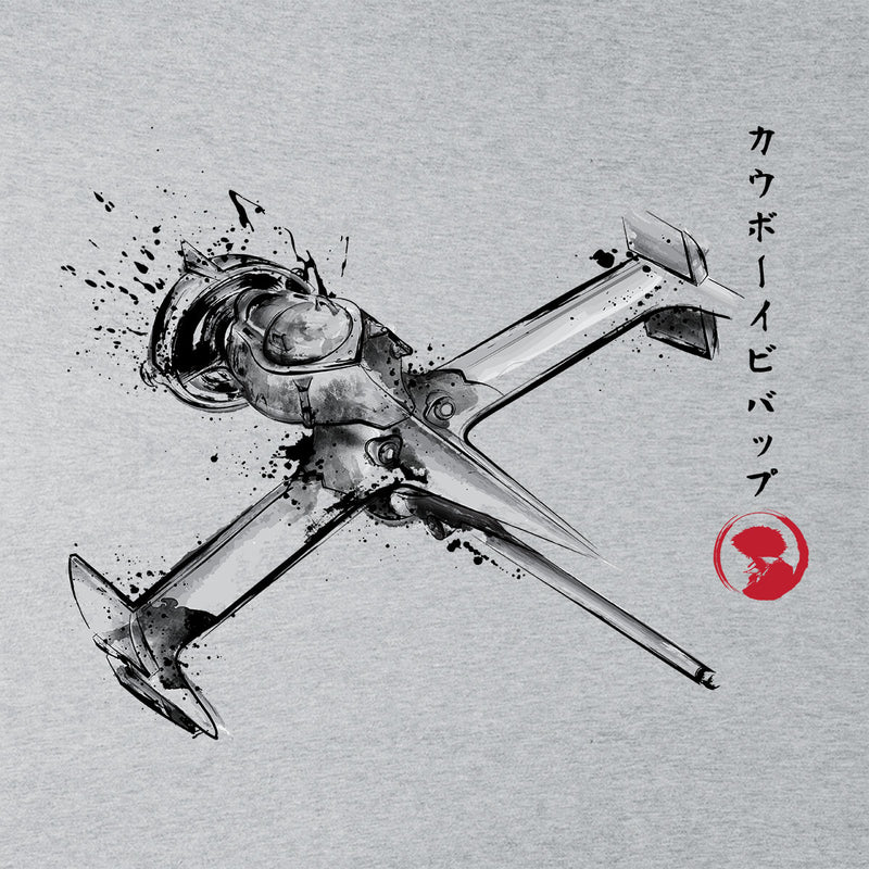 Cowboy Bebop Mono Racer Sumi E Men's T-Shirt by Dr.Monekers - Cloud City 7