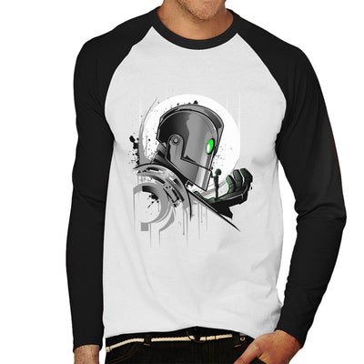 Iron Giant My Giant Friend Men's Baseball Long Sleeved T-Shirt by InkOne - Cloud City 7