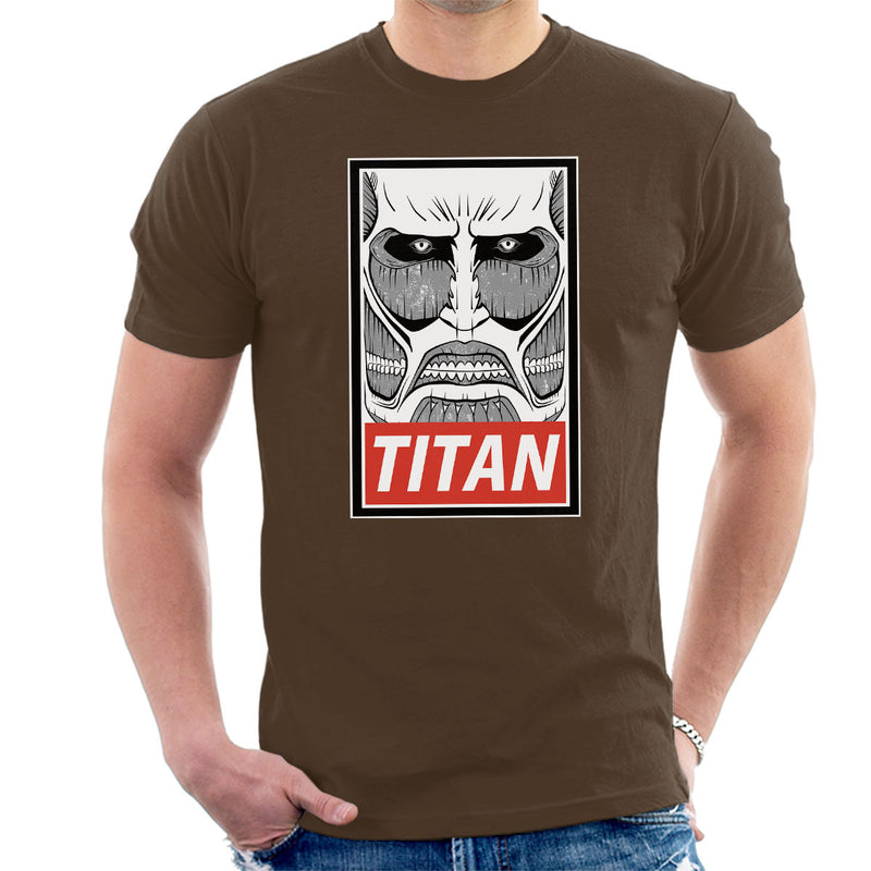 Obey Attack On Titan Men's T-Shirt by Create Or Destroy - Cloud City 7