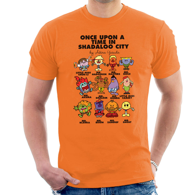 98535dd0 ... Street Fighter Mr Men Collection Men's T-Shirt by TopNotchy - Cloud  City 7 ...