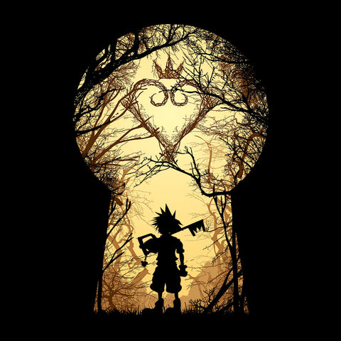 Kingdom Hearts Art Forest Lock