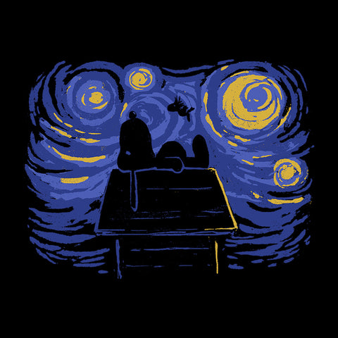 Peanuts Van Goghs A Snoopy Night Sky