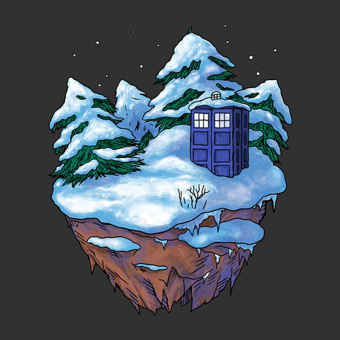 Tardis On A Floating Winter Island Doctor Who