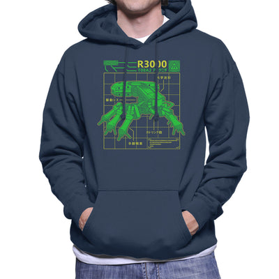 R3000 Robot Database Ghost In A Shell Men's Hooded Sweatshirt by Adho1982 - Cloud City 7