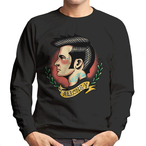 10th Doctor Who Tattoo Lets Go Allons Y Men's Sweatshirt