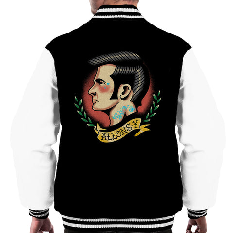 10th Doctor Who Tattoo Lets Go Allons Y Men's Varsity Jacket