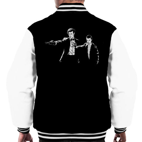 11 Eleven Doctor Who Stranger Things Pulp Fiction Men's Varsity Jacket
