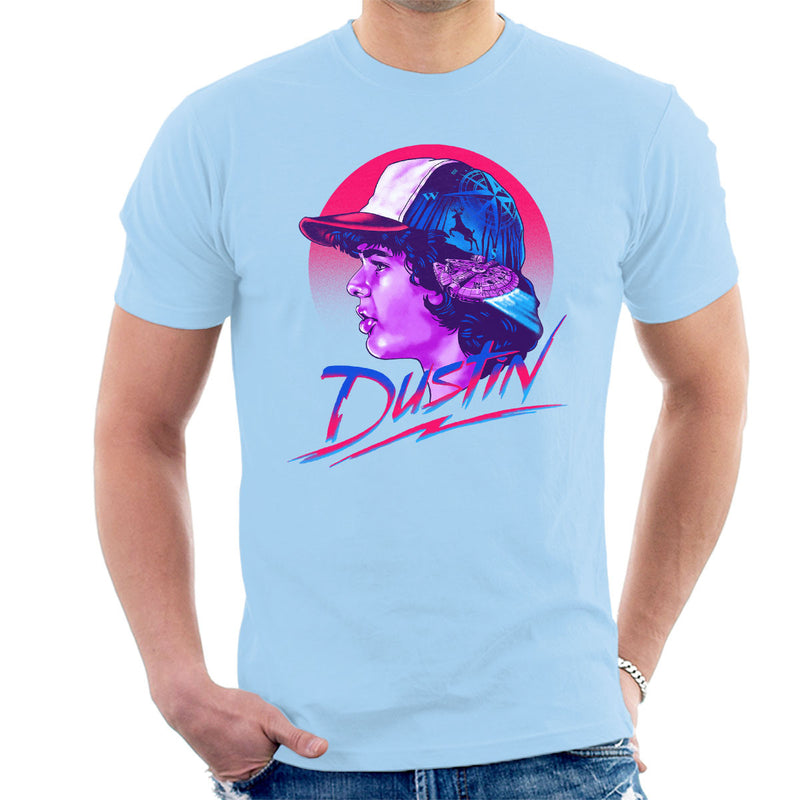 Dustin Montage Stranger Things Men's T-Shirt by Zerobriant - Cloud City 7