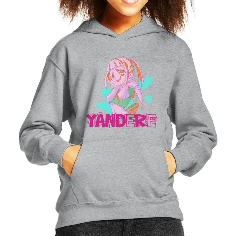 a4f76e51223 ... Yandere Anime Girl Kid s Hooded Sweatshirt by PsychoDelicia - Cloud  City 7 ...