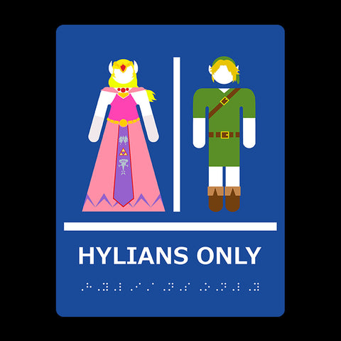 Hylians Only Restroom Zelda Breath Of Wind