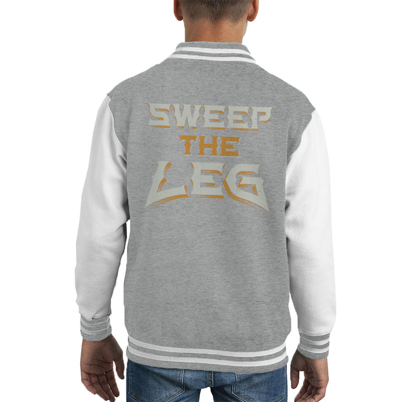 Sweep The Leg Karate Kid Quote Kid's Varsity Jacket by Create Or Destroy - Cloud City 7