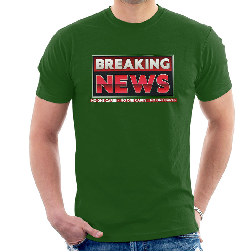 Breaking News No One Cares Men's T-Shirt by Create Or Destroy - Cloud City 7