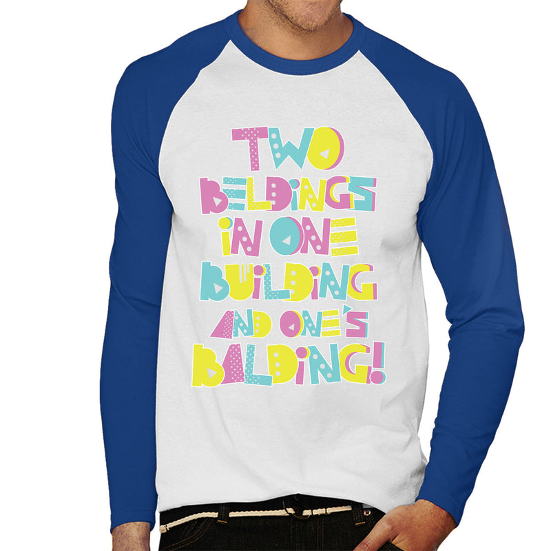 Two Beldings Saved By The Bell Men's Baseball Long Sleeved T-Shirt by Create Or Destroy - Cloud City 7